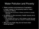 water pollution and poverty
