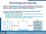 phase changes and latent heat