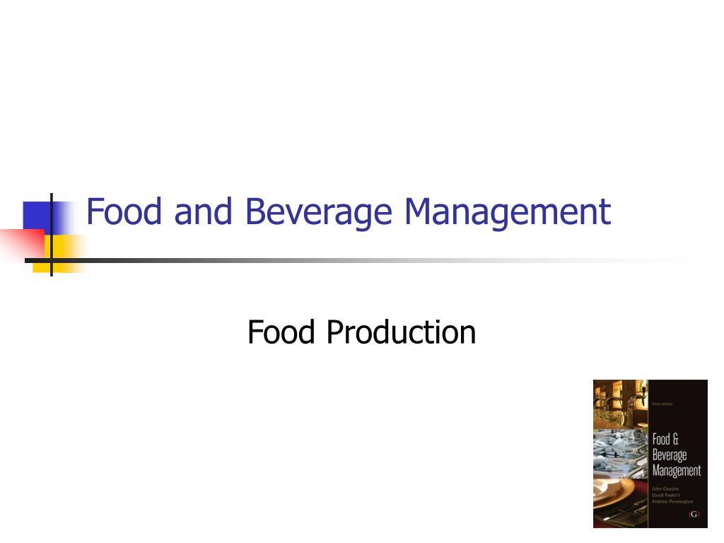 food and beverage management l.