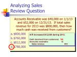 analyzing sales review question19