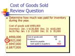 cost of goods sold review question