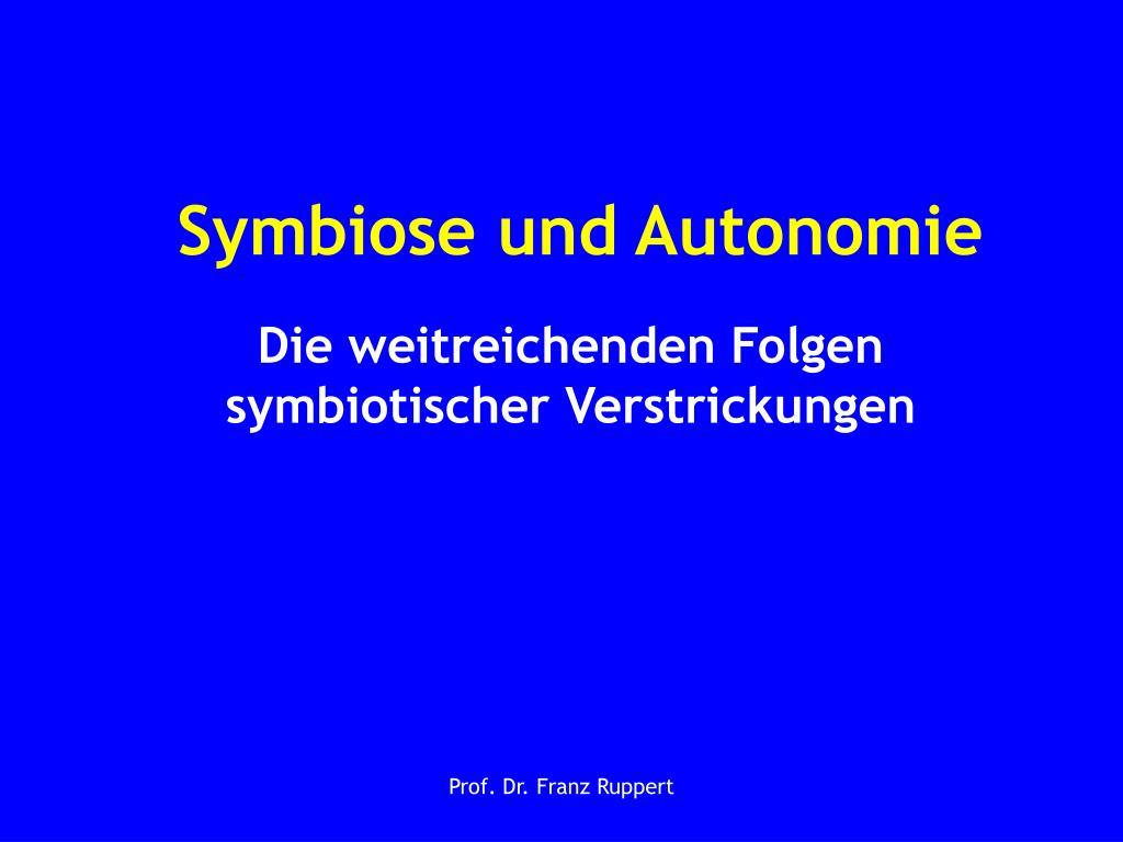 symbiose und autonomie l.