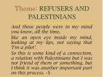 theme refusers and palestinians18