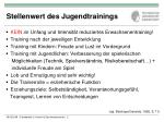 stellenwert des jugendtrainings