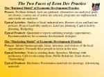 the two faces of econ dev practice