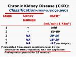 chronic kidney disease ckd classification nkf k doqi 2002