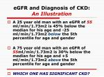 egfr and diagnosis of ckd an illustration