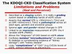 the kdoqi ckd classification system limitations and problems real and perceived