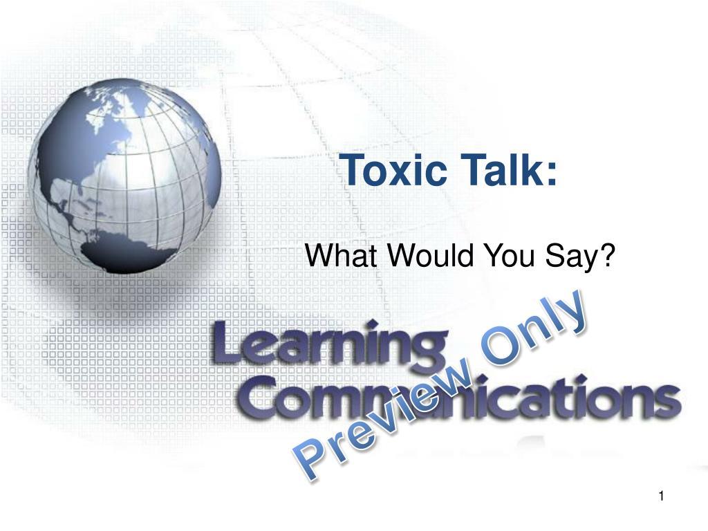toxic talk l.