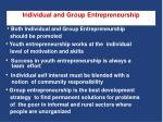 individual and group entrepreneurship