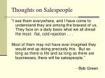 thoughts on salespeople