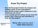 know thy project8