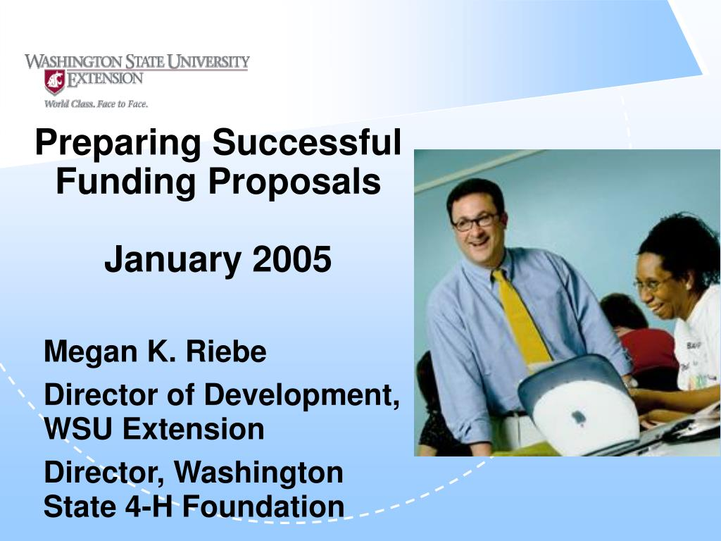 preparing successful funding proposals january 2005 l.