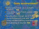goals accomplished