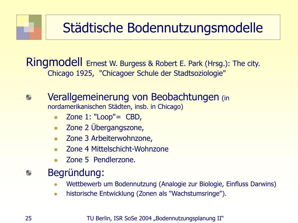 Städtische Bodennutzungsmodelle