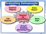 evaluating salespeople