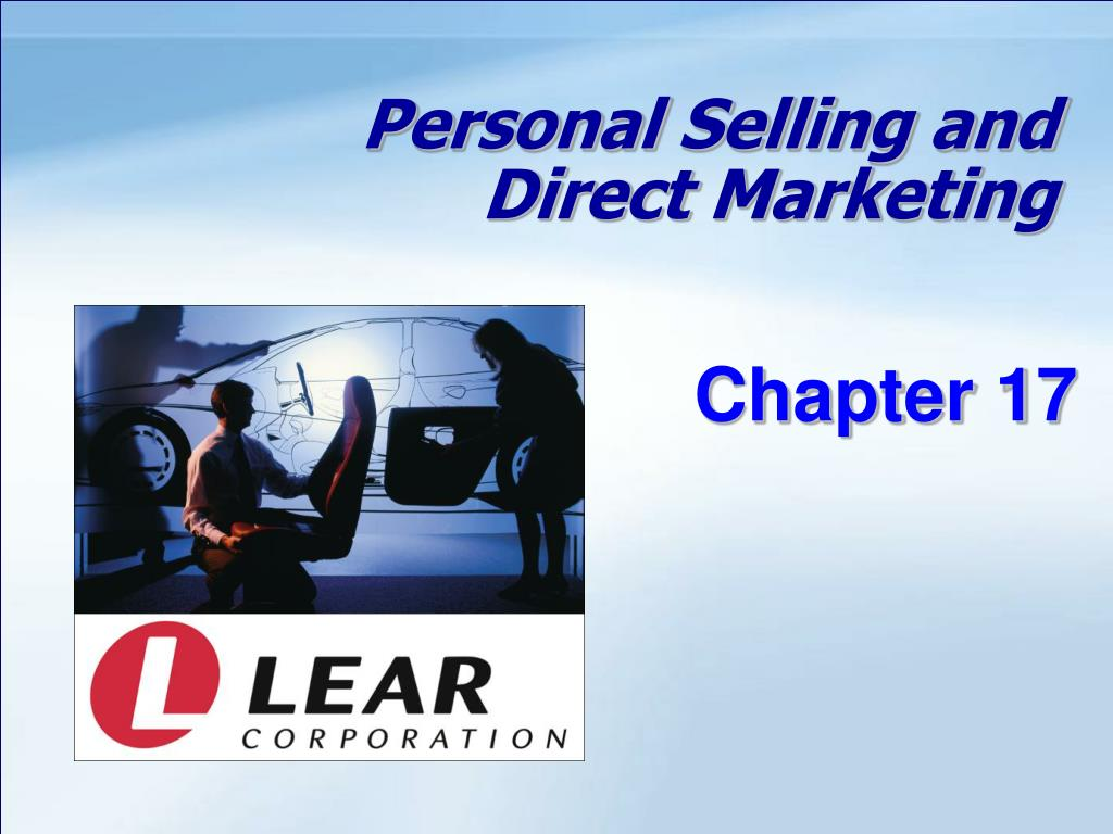 personal selling and direct marketing l.