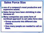 sales force size