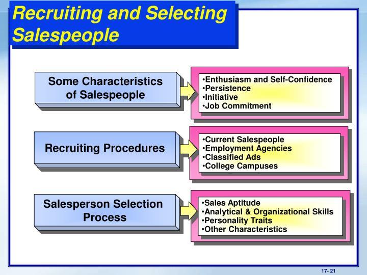 selecting salespeople