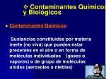 contaminantes qu micos y biol gicos