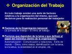 organizaci n del trabajo