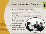 importance of sales dialogue
