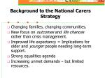 background to the national carers strategy