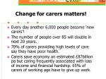 change for carers matters
