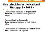 key principles in the national strategy by 2018
