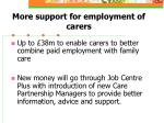 more support for employment of carers