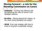 moving forward a role for the standing commission on carers