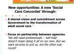 new opportunities a new social care concordat through