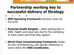 partnership working key to successful delivery of strategy