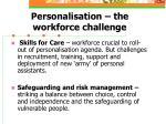 personalisation the workforce challenge