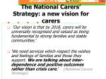 the national carers strategy a new vision for carers
