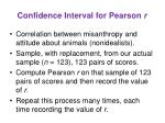 confidence interval for pearson r