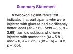 summary statement7