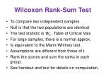 wilcoxon rank sum test