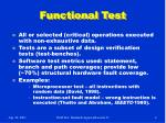 functional test