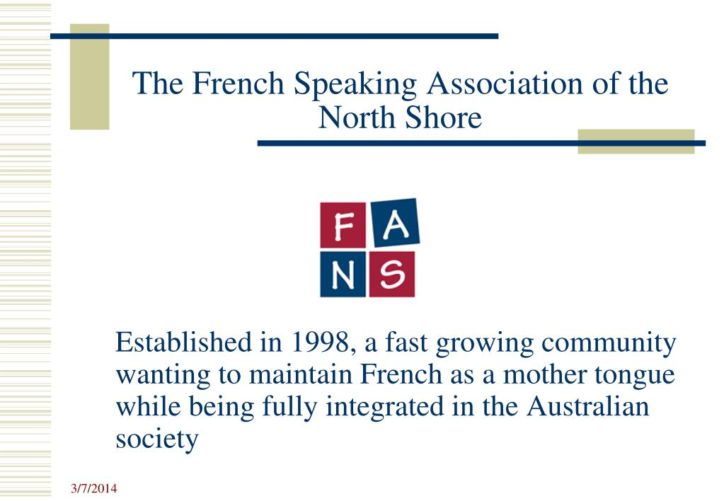 the french speaking association of the north shore l.