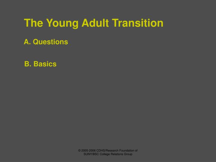 The young adult transition