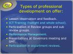 types of professional development on offer9