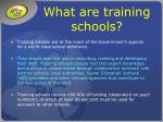 what are training schools