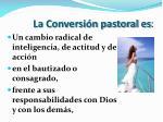 la conversi n pastoral es