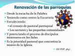 renovaci n de las parroquias