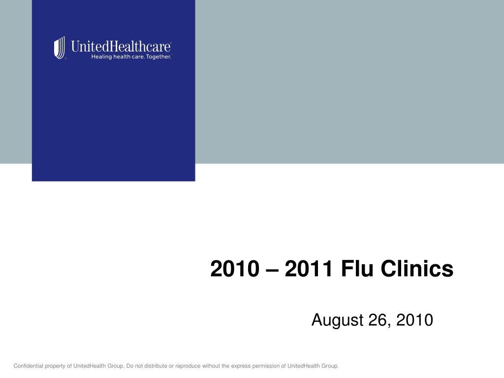 2010 2011 flu clinics l.