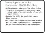 dietary approaches to stop hypertension dash diet study