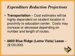 expenditure reduction projections26