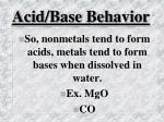 acid base behavior30