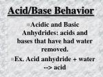 acid base behavior31